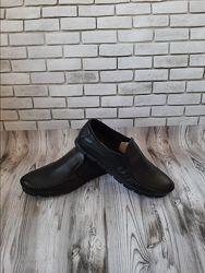 Мужские кожаные туфли чорн. -коричн. 00578