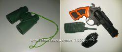 Игрушки для мальчика бинокль, пистолет, рация и граната лотом