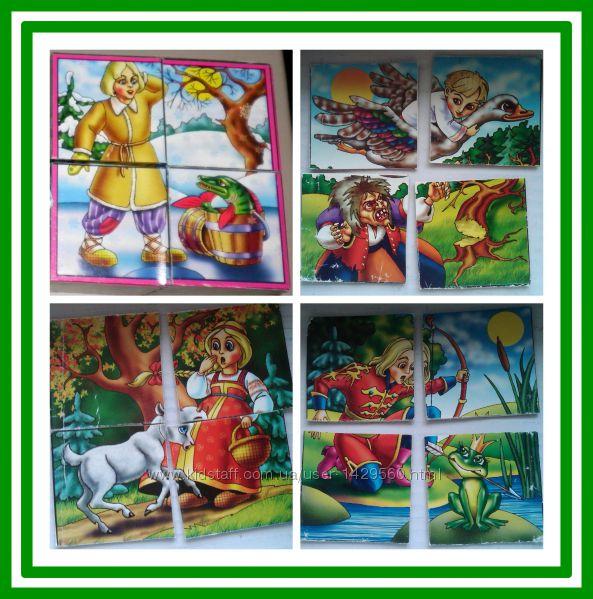 Игрушки кубики Магические из 8 кубиков сложи 12 первых сказок по образцу