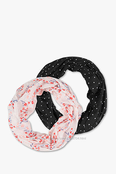 Комплект з двох шарфів-хомут, C&A, Німеччина