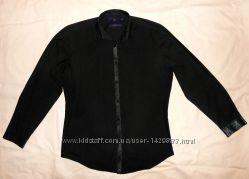 Рубашка черная длинный рукав Next