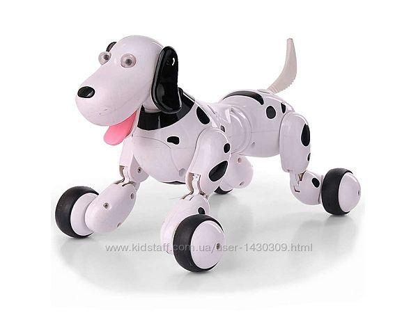 Робот-собака на радиоуправлении HappyCow Smart Dog. черный