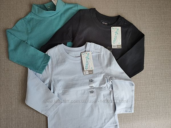 новые футболки регланы как Next  на 9 - 12 мес Франция