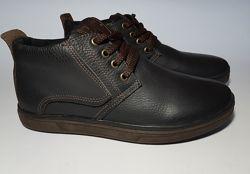 Зимние мужские кожаные ботинки на меху