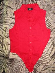 легкая блуза-рубашка р. 134-140 тсм - такко германия
