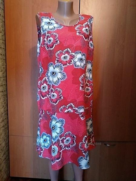 Очаровательное льняное платье лен с хлопком Пог 52 см