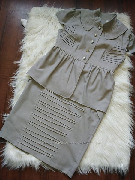 Літній костюм блуза-безрукавка жилет жакет  та юбка