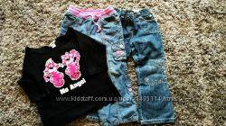 Пакет джинсы 2 шт George, Designers   кофта, цена за набор , на 3-5 лет