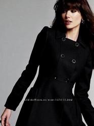 Шикарное осенне весеннее пальто шерсть размер хс-с monki
