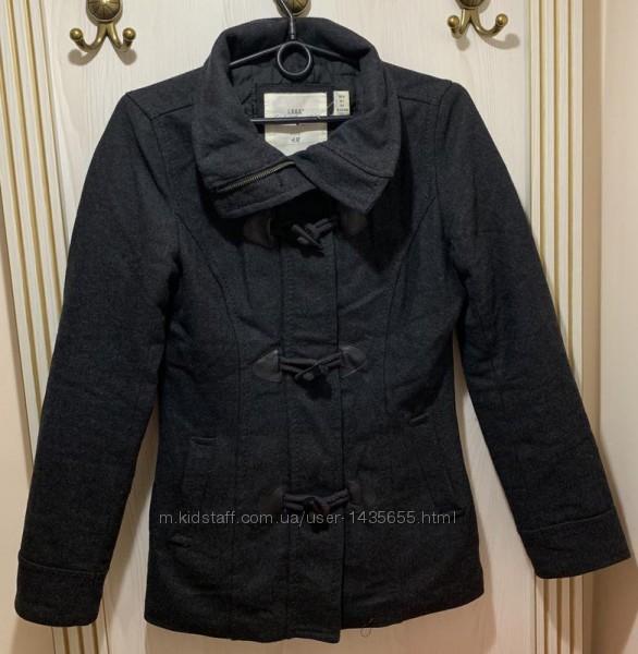 Шерстяное тёплое пальто куртка h&m размер хс-с