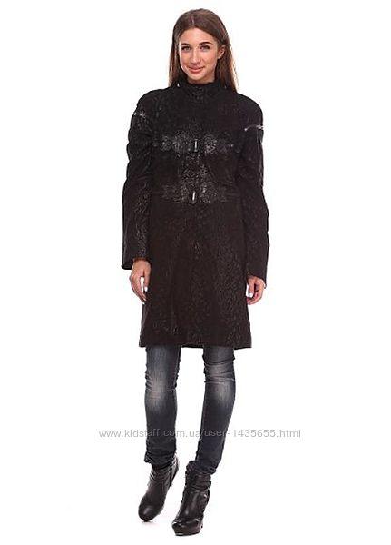 плащ пальто кожаный плащ куртка кожа размер л46