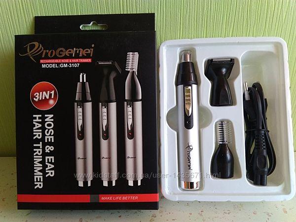 Машинка, триммер для стрижки бровей, волос в носу и ушах Gemei GM-3107