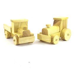 Деревянные игрушки. Машины. Грузовик  трактор