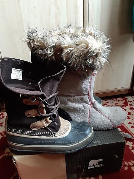 Ботинки сапоги зимние кожаные оригинал