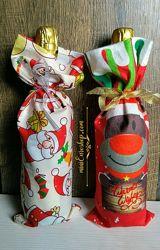 Мешочек для бутылки Рождественский