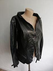 Дизайнерская, кожаная куртка пиджак noir из натуральной кожи, размер xs, s,