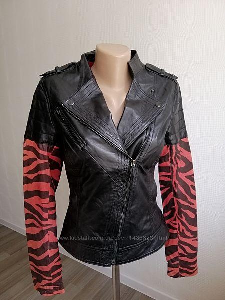 Кожаная, новая куртка косуха goosecraft из натур кожи, р. xs, s, m,6,8,10,1