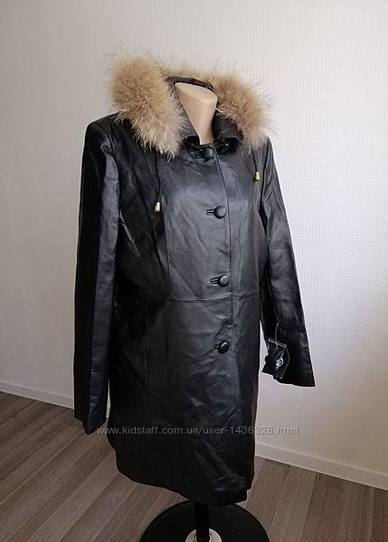 Кожаное, новое, утепленное пальто prava kuze из натур. кожи, р. m, l, xl,12