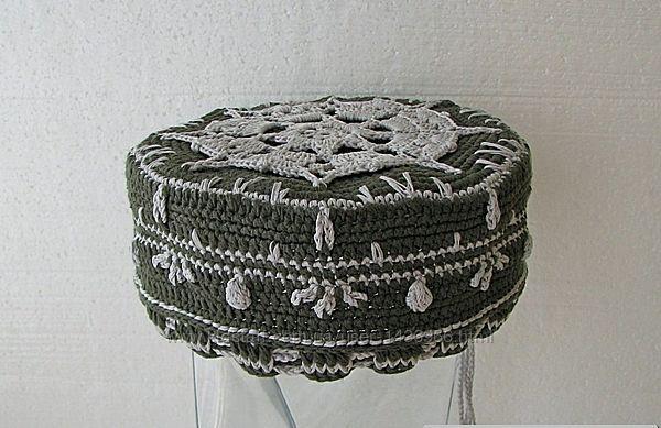 мужская тюбетейка короткая вязаная шапочка куфи