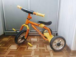 Трехколесный велосипед Bambi M 0688 оранжевый/желтый
