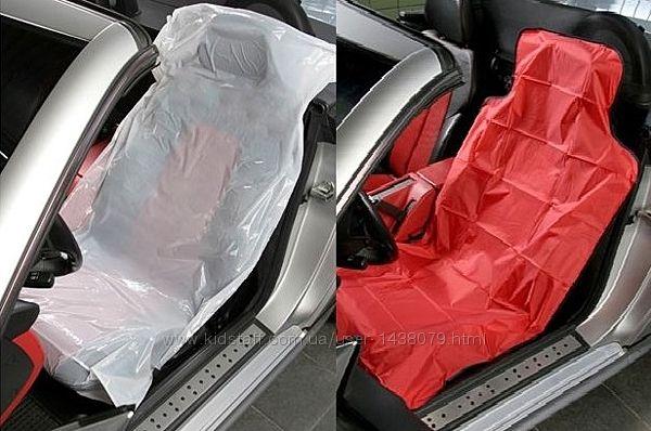 Чехлы одноразовые для защиты сидений, руля, коробки передач, ст. тормоза