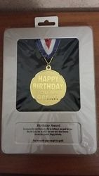 Медаль подарочная сувенир С днем рождения