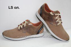 3734718b9 Мужские кожаные кроссовки спортивные туфли синие олива лето, 890 грн ...