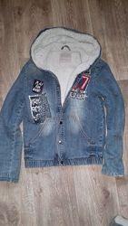 Куртка-джинсовка-утепленная