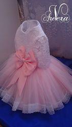 Нарядное детское платье на годик пышное праздничное девочку дочка мама