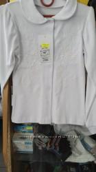 Блуза белая на кнопках с вышивкой для девочки