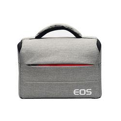 Фото сумка Canon EOS противоударная, цвет серый с красным