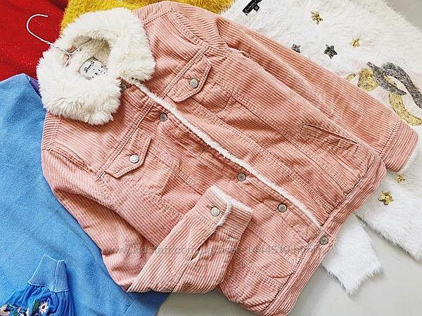 Вельветовая утеплённая куртка denim