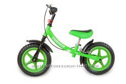 Акция Зеленый беговел на пенных колесах, подшипниках, с фарой