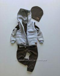 Комплект костюм и жилет для мальчика и девочки, р. 80-98