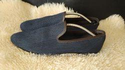 Zara туфлі лофери мокасіни 45-46 р по ст 29. 5 см текстиль