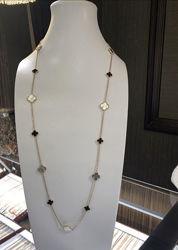 Набори van cleef and arpels позолота , срібло 925 та сережки
