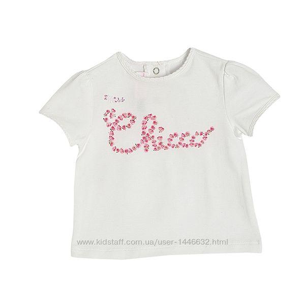 Летние футболки Chicco для девочек р.74/80
