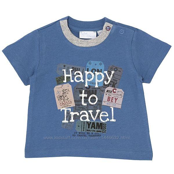 Летние футболки Chicco для мальчиков р.80-128см