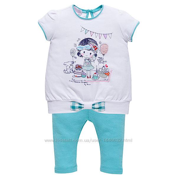 Леггинсы и костюмы футболкалеггинсы для девочек Chicco р.68-116