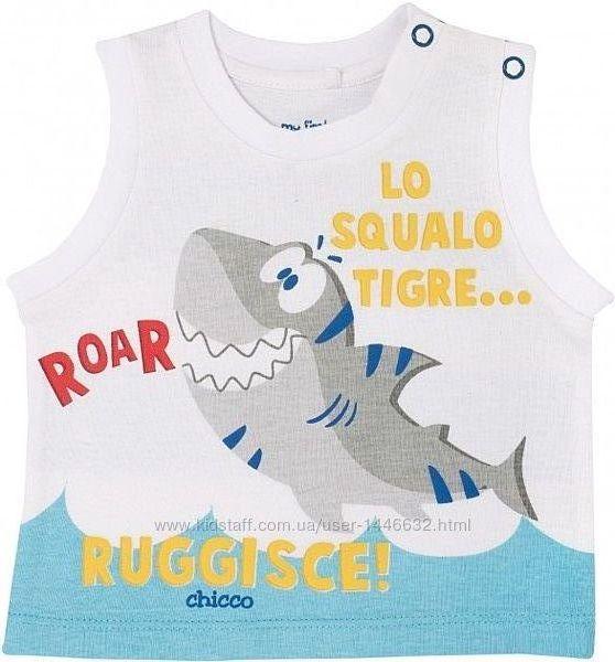 Летние майки и костюмы футболка и шорты Chicco для девочек р.68-110