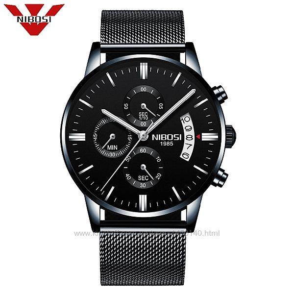 Мужские часы Nibosi Classic Black