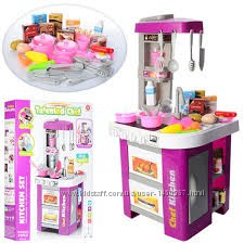 Детская кухня Limo Toy 922-49 свет, звук, льется вода 49 предметов