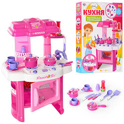 Детская игровая кухня Limo Toy 008-26 свет звук дитяча кухня игровой набор