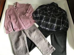 Брюки, рубашки на мальчика Next H&M