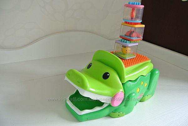 Fisher-Price Музыкальный конструктор Крокодил