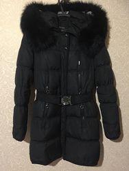 Зимний тёплый пуховик tuleh с натуральным мехом, размер s