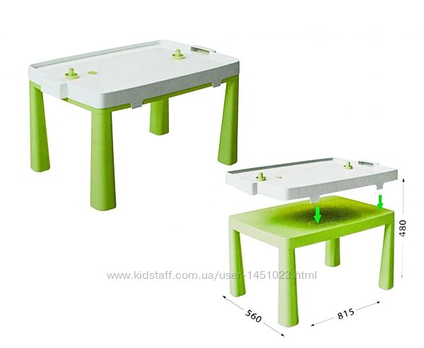 Пластиковый стол с насадкой для аэрохоккея Doloni