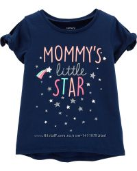 Футболка девочке Мамина маленькая звёздочка Carters