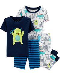Комплект пижам Carters хлопок 4 шт, пижама мальчику