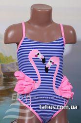 Купальник детский слитный Фламинго электрик, синий, красный